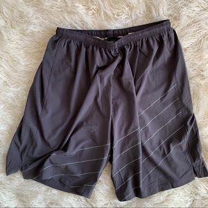 Phat Buddha Grey Athletic Yoga Men's Shorts Size L